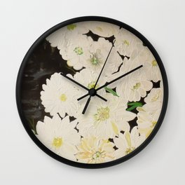 Midnight Blossoms Wall Clock