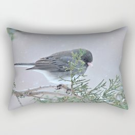 Reverie (Dark-eyed Junco) Rectangular Pillow