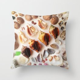 Cockles & Conch Throw Pillow
