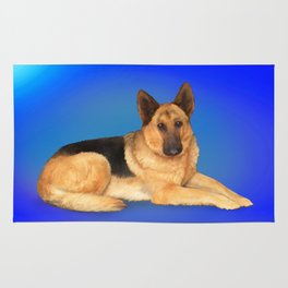 German Shepherd Rug