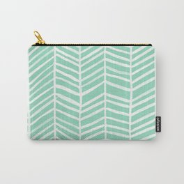Herringbone – Mint & White Palette Carry-All Pouch