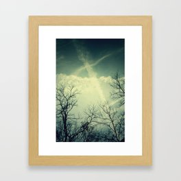 painting through the sky . Framed Art Print