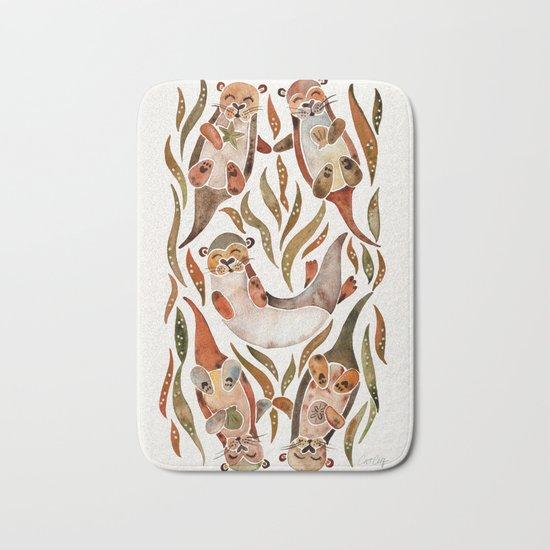 Five Otters – Sepia Palette Bath Mat