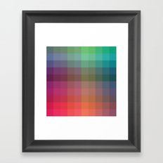 Rainbow Squares Framed Art Print