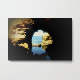 Inside looking Out to the Great Southern Ocean Metal Print