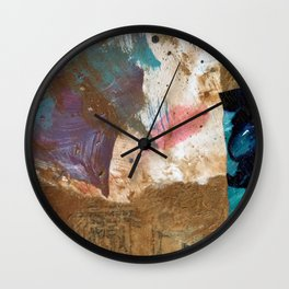 Colours of the wind, and gold. Wall Clock