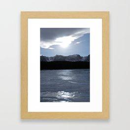 Frozen Mountain Lake Framed Art Print