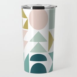 Simple Geometry Shapes Travel Mug