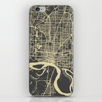 memphis iPhone & iPod Skins featuring Memphis map by Map Map Maps