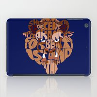 beauty and the beast iPad Cases featuring beast by Rebecca McGoran
