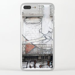 The facade's face, graffiti Clear iPhone Case