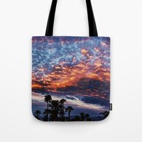 coachella Tote Bags featuring Coachella Sky by Jay Hooker Designs