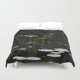 Pickerel Weeds and Lily Pads Duvet Cover
