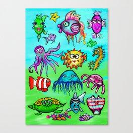 Sea Life Sampler Canvas Print