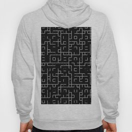 Maze - Black and white, abstract, maze pattern Hoody