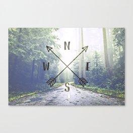Forest Compass Canvas Print