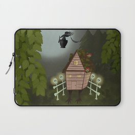 Baba Yaga Forest Folk Art Laptop Sleeve