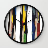 subway Wall Clocks featuring Subway by Myles Hunt