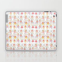 Russian doll and flowers pattern Laptop & iPad Skin