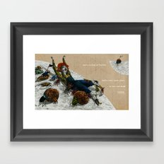 A colony of beetles Framed Art Print