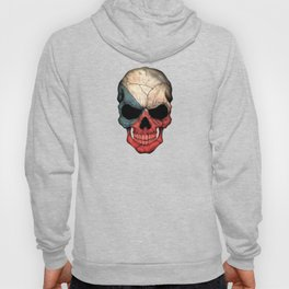 Dark Skull with Flag of Czech Republic Hoody