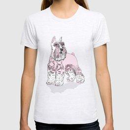 Schnauzer pink T-shirt