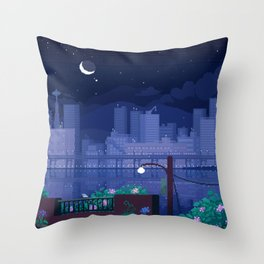 Seattle Nights Throw Pillow