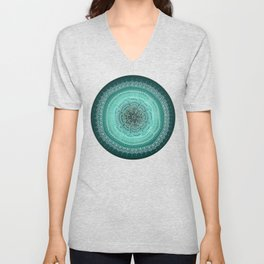 Realizing on Black Background Unisex V-Neck