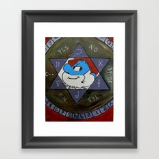 Smurfin with fire Framed Art Print