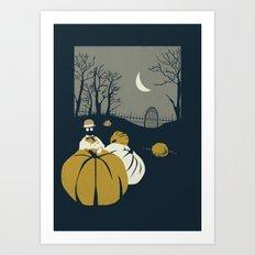 Urban Fae — Pumpkin Patch Art Print