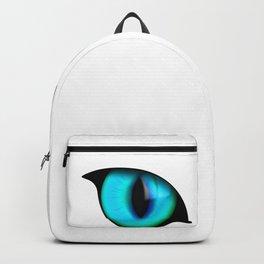 Halloween Glowing Eyes Cat Backpack