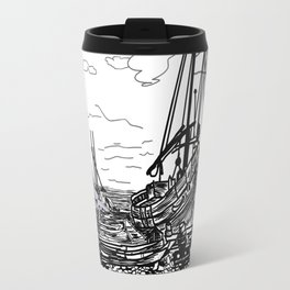boats on the sea . artwork Travel Mug