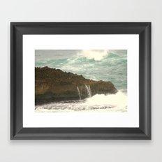 Leaking Rock Framed Art Print