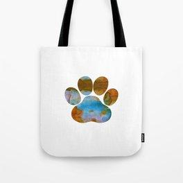 Dog Paw Print Tote Bag