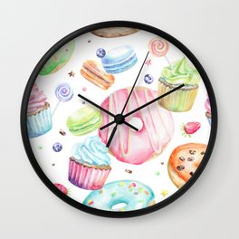 Sweets Pattern Wall Clock