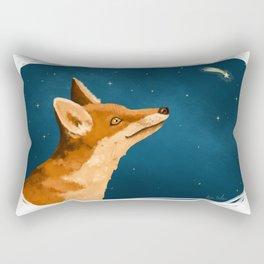 Fox and Stars Rectangular Pillow