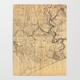 Map Of Don Mills 1953 Poster