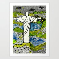 rio de janeiro Art Prints featuring Rio de Janeiro - Brazil by Luciana Pupo