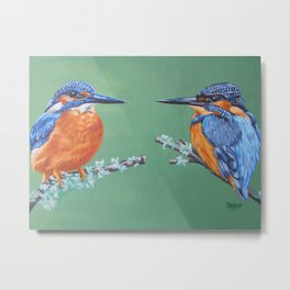Two Kingfishers Metal Print