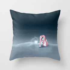 I'm all alone in a world that seems so dark Throw Pillow