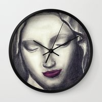 madonna Wall Clocks featuring Michelangelo Madonna  by augusta marya