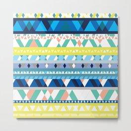 Colorful Tribal Stripes Metal Print
