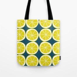Modern Yellow Lemon Pattern Tote Bag