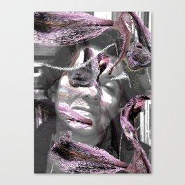 Retrato del alma con lilias Canvas Print