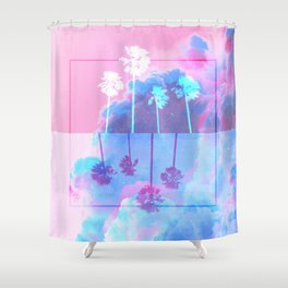SUMMER WAVES Shower Curtain