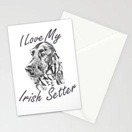 I Love My Irish Setter Stationery Cards