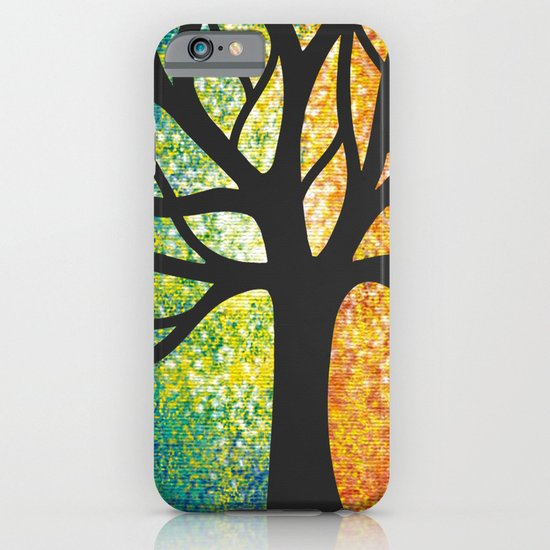 Stencil Tree Canvas iPhone & iPod Case