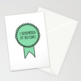 I Remembered My Blessings / Self-Care Awards Stationery Cards