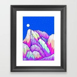 The vibrant Peak Framed Art Print