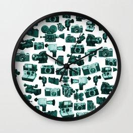 Cameras & Green Wall Clock